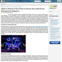 Event management in Singapore #1 Choice for Event