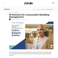 10 Pointers for a Successful Wedding Management