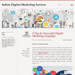 5 Tips for Successful Digital Marketing Campaign