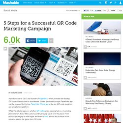 5 Steps for a Successful QR Code Marketing Campaign