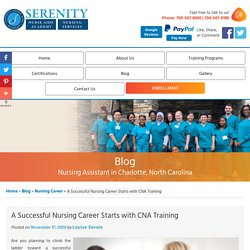 A Successful Nursing Career Starts with CNA Training