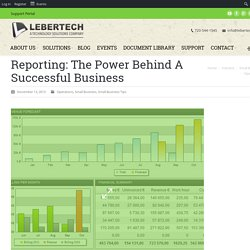 Reporting: The Power Behind Successful Business Operations