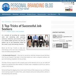 3 Top Tricks Of Successful Job Seekers