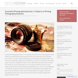Successful Photography Business | 5 Steps to a Thriving Photography