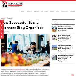 Successful Event Planners from Resources Groups