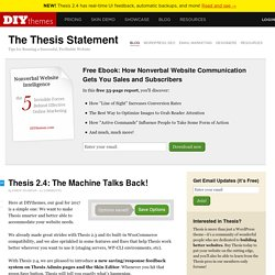The WordPress Theme for Serious Online Publishers — Thesis Theme