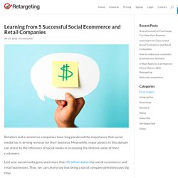 Learning from 5 Successful Social Ecommerce and Retail Companies - Retargeting Blog