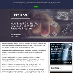 How Email Can Be Your Key To A Successful Rewards Program
