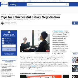 Tips for a Successful Salary Negotiation