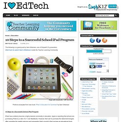10 Steps to a Successful School iPad Program