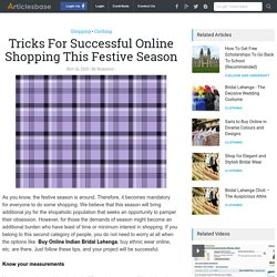 Tricks For Successful Online Shopping This Festive Season