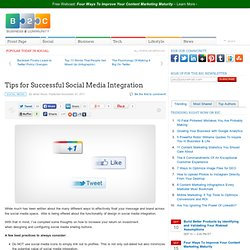 Tips for Successful Social Media Integration