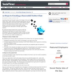 12 Steps to Creating a Successful Twitter Chat