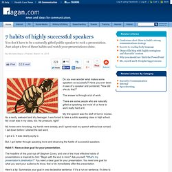 7 habits of highly successful speakers