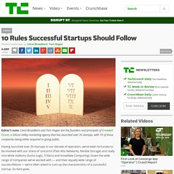 10 Rules Successful Startups Should Follow