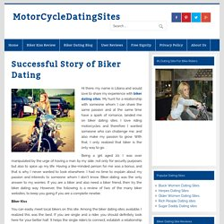 Successful Story of Biker Dating