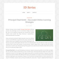 Principal Chad Smith - Successful Online Learning Strategies
