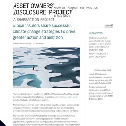 Global insurers share successful climate change strategies to drive greater action and ambition - Asset Owners Disclosure Project