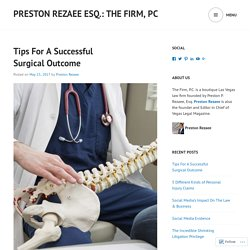 Tips For A Successful Surgical Outcome