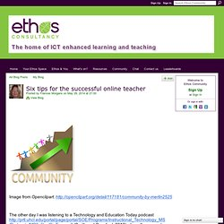 Six tips for the successful online teacher