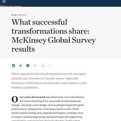 What successful transformations share: McKinsey Global Survey results