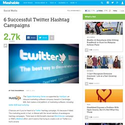 6 Successful Twitter Hashtag Campaigns