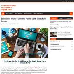 Latest Online Advance E-Commerce Website Growth Successful In Business