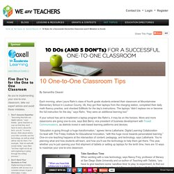10 Tips for A Successful One-to-One Classroom