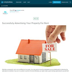 Successfully Advertising Your Property For Rent: cloudpm