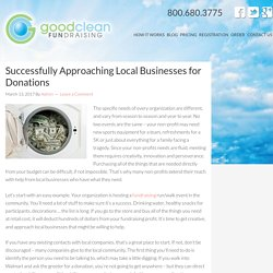 Successfully Approaching Local Businesses for Donations