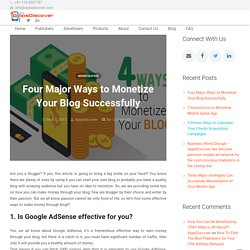 Four Major Ways to Monetize Your Blog Successfully - AppsDiscover