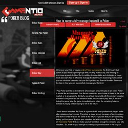 How to successfully manage bankroll in Poker - Play Online 3D Poker For Free on Gamentio - gamentio