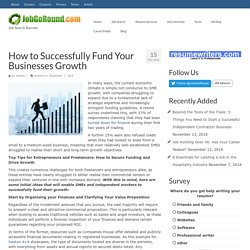 How to Successfully Fund Your Businesses Growth – JobGoRound