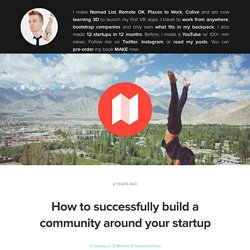 How to successfully build a community around your startup