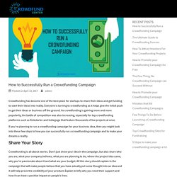 How to Successfully Run a Crowdfunding Campaign - Crowdfund Center