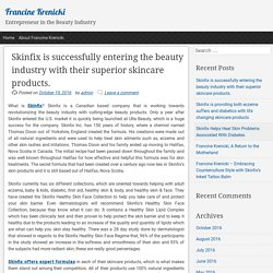 Skinfix is successfully entering the beauty industry