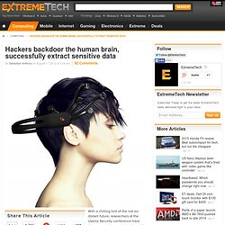 Hackers backdoor the human brain, successfully extract sensitive data