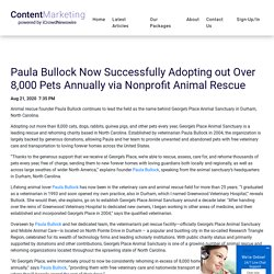 Paula Bullock Now Successfully Adopting out Over 8,000 Pets Annually via Nonprofit Animal Rescue - iCrowdMarketing