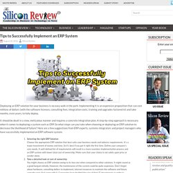 8 Tips for Successful Implementation of an ERP System