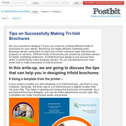 Tips on Successfully Making Tri-fold Brochures.