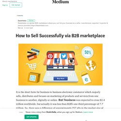 How to Sell Successfully via B2B marketplace – Dealerbaba