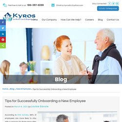 Tips for Successfully Onboarding a New Employee