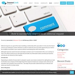 Blog - How to successfully respond to an editorial request