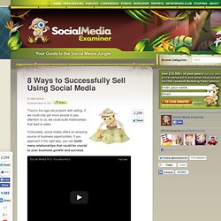 8 Ways to Successfully Sell Using Social Media