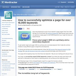 How to optimize a page for search engines