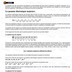 La gamme est une succession ascendante ou descendante de huit notes conjointes ou degrés conjoints