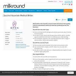 Succinct Associate Medical Writer job with Open Health