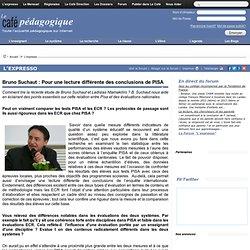Bruno Suchaut : Pour une lecture différente des conclusions de PISA