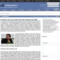 B. Suchaut : Pour une nouvelle lecture des résultats de Pisa 2009