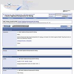 Suche TagCloud Komponente für Swing - java-forum.org